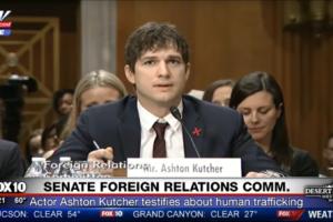 Emotional Ashton Kutcher Implores Congress to Act on Child Exploitation