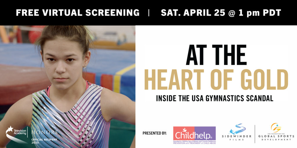 At the Heart of Gold screening banner